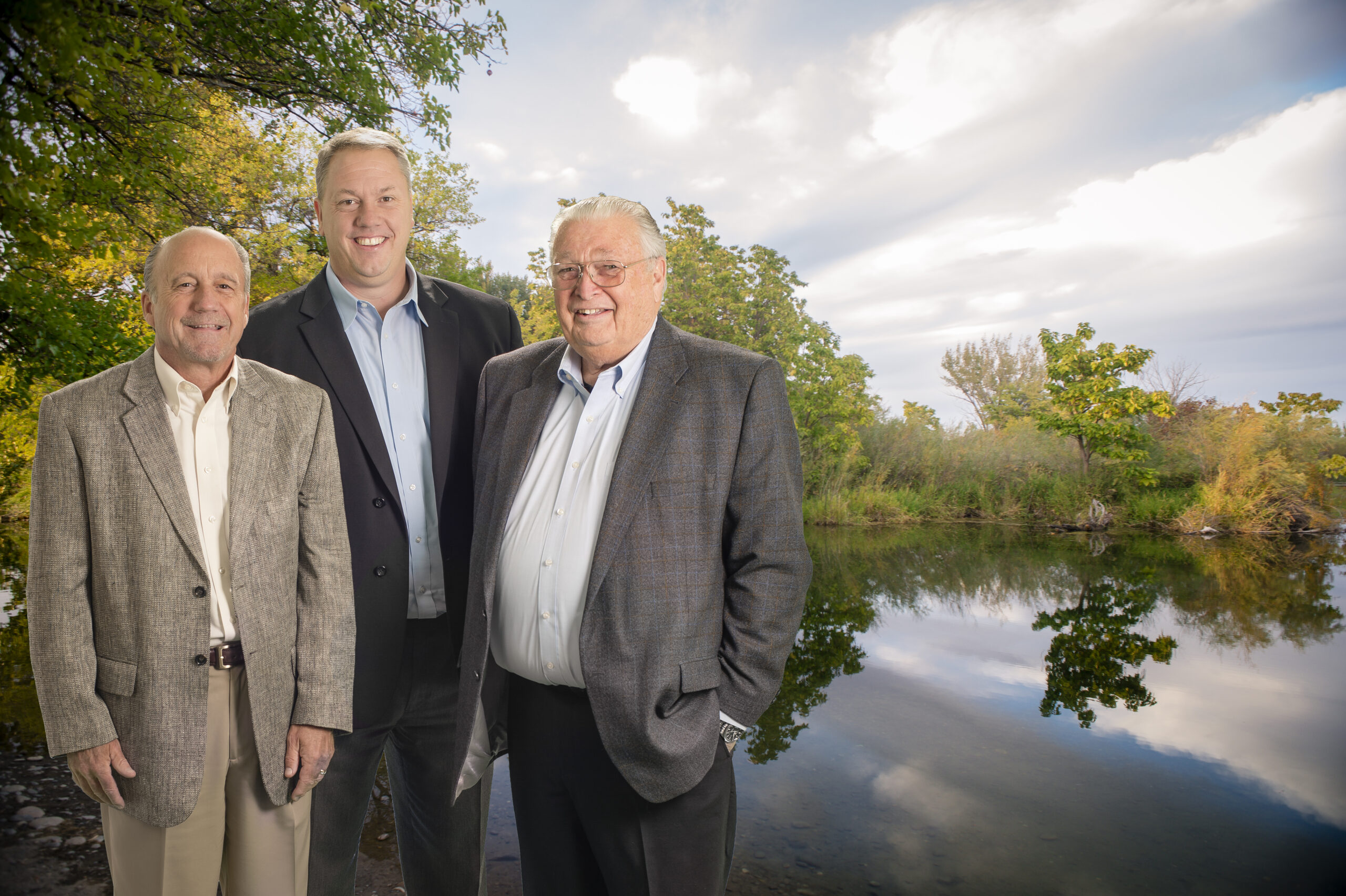 Former Presidents of Community First Bank pictured left to right: Rick Peenstra, Eric Pearson, Rich Emery