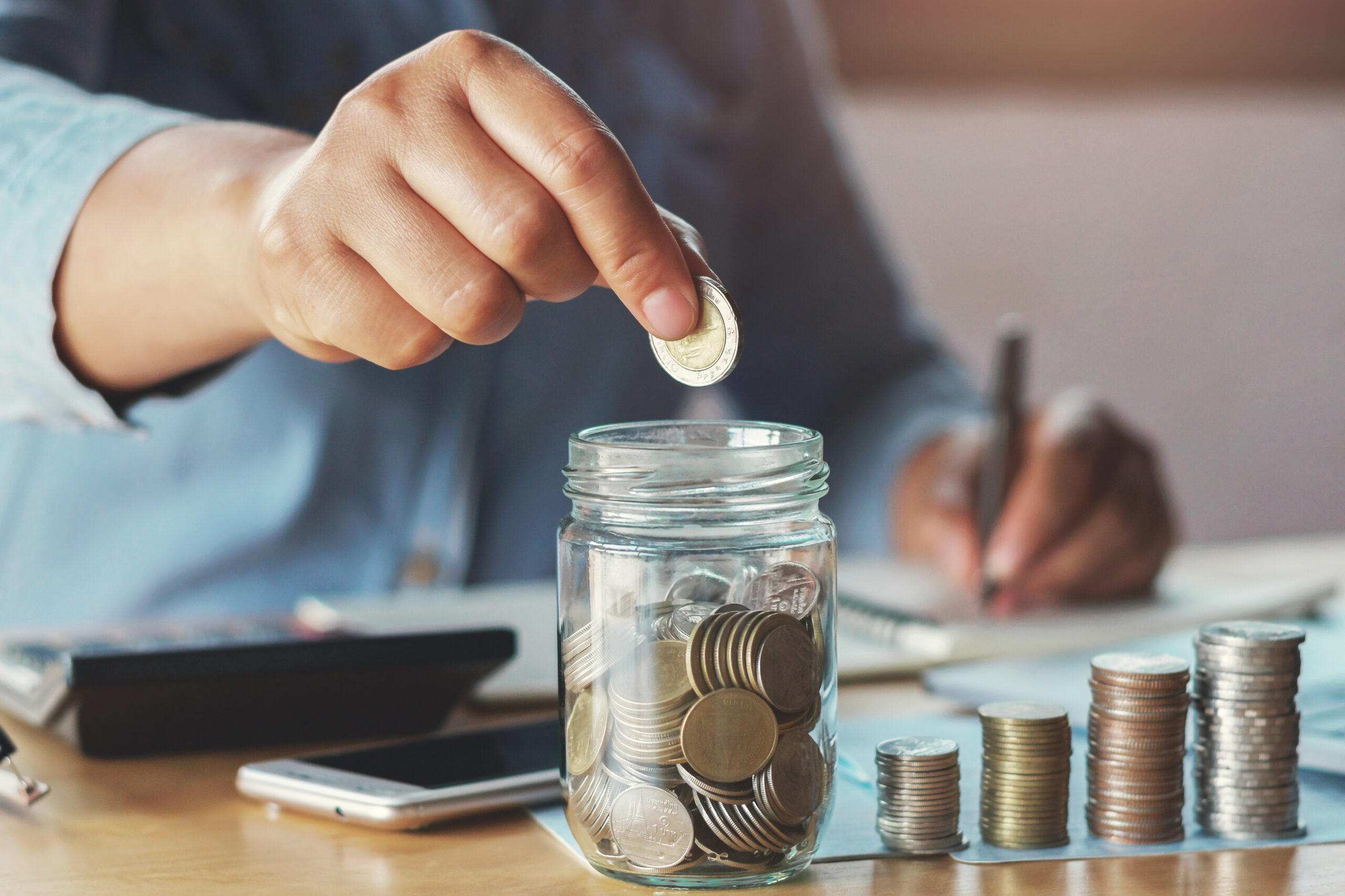 retirement business accounting saving money concept